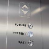 Aufzugszeitmaschine, die zum Geschenk geht Lizenzfreie Stockbilder