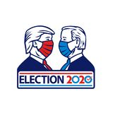 Donald Trump Versus Joe Biden Election 2020 Wearing Face Mask