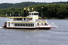 Aug 5, 2015 Dubuque Iowa: The Spirit of Dubuque paddle boat. Royalty Free Stock Photography