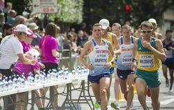 6 Aug `17 - London World Athletics Championships marathon:  Andrew Davies, Josh Griffiths & Brad Milosevic Royalty Free Stock Photos