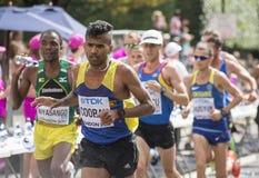 6 Aug `17 - London World Athletics Championships marathon: Cuthbert Nyasango. London World Athletics Championships marathon: Cuthbert Nyasango & Sri Lankan Stock Images