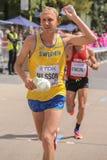 6 Aug `17 - London World Athletics Championships marathon: David Nisson Stock Photo