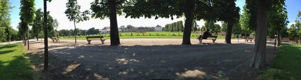 Augartenpark στη Βιέννη Αυστρία στο καλοκαίρι στοκ εικόνα