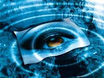 Auge über Blau   Lizenzfreies Stockbild