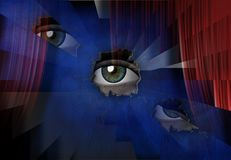 Auge Vektor Abbildung