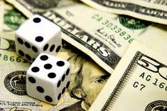 Auge auf dem Geld Stockfotografie