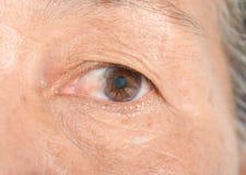 Auge auf den Falten stockfoto