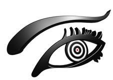 Auge auf Ziel Stockbild