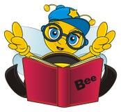 Auge da abelha acima do livro Imagem de Stock Royalty Free