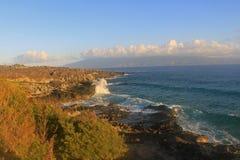 Auge da manhã em Molokai de Maui ocidental fotografia de stock