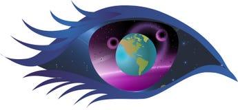 Auge, das Fenster zum Universum Stockbilder