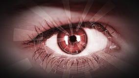Auge, das numerische Information ansieht Stockfoto