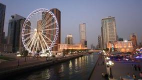 Auge der Emirate in Scharjah, UAE stock video footage