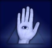 Auge in der Hand Lizenzfreie Stockfotografie