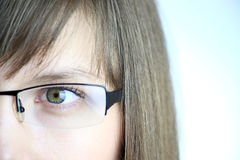 Auge der jungen Frau Lizenzfreies Stockfoto