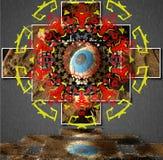 Auge der Mandala stock abbildung
