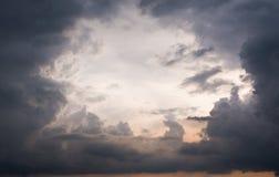 Auge der Wolken eines Sturms Lizenzfreies Stockbild