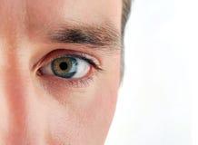 Auge des Mannes Stockfoto