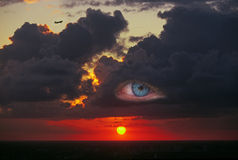 Auge des Sturms Stockbilder