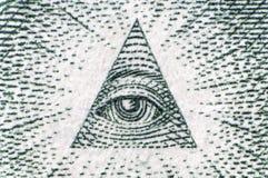 Auge ein Dollarabschluß oben Lizenzfreie Stockfotografie