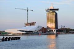 AUGE Film-Institut und Overhoeks-Turm in Amsterdam, die Niederlande Lizenzfreies Stockbild