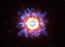 Auge grande en espacio profundo fotografía de archivo