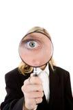 Auge im Vergrößerungsglas Lizenzfreies Stockfoto