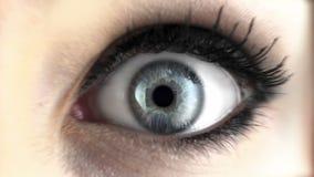 Auge mit Sprengstoff stock video