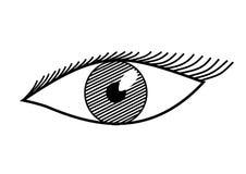 Auge in Schwarzweiss Stockbild