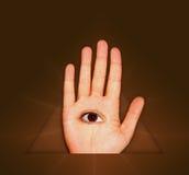 Auge und Hand Lizenzfreie Stockfotografie