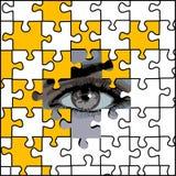 Auge und Puzzlespiel Stockbilder