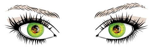 Augen stock abbildung