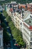 Augen-Ansicht des Vogels von Prag Stockbilder