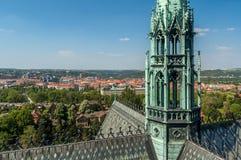 Augen-Ansicht des Vogels von Prag Lizenzfreie Stockfotografie