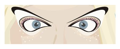Augen der Frau stock abbildung