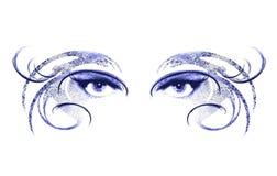 Augen der Frauen-tragenden Schablone Stockbild