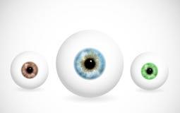 Augen der verschiedenen Farben lizenzfreie abbildung