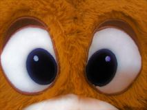 Augen des Bärnspielzeugs stockbild