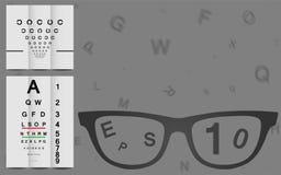 Augen-Diagramm Stockfoto