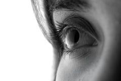 Augen eines jungen Mädchens Lizenzfreie Stockfotografie