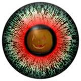 Augen-Halloween-Geister Untersuchung das Auge von Furcht Einladung an eine Halloween-Party Lizenzfreies Stockfoto