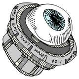 Augen-Kameraobjektiv Stockfoto