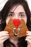 Augen-Liebe Sie Plätzchen lizenzfreie stockfotos