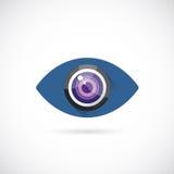 Augen-Linsen-Zusammenfassungs-Vektor-Konzept-Symbol-Ikone oder lizenzfreie abbildung