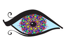 Augen mit farbiger Blende Stockbild