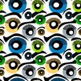 Augen-nahtloser Hintergrund Stockbilder