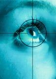 Augen-Scan Stockfotografie