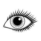 Augen-Vektor-Ikone Lizenzfreie Stockfotos