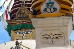 Augen von Buddha lizenzfreies stockbild