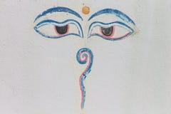 Augen von Buddha Stockbilder